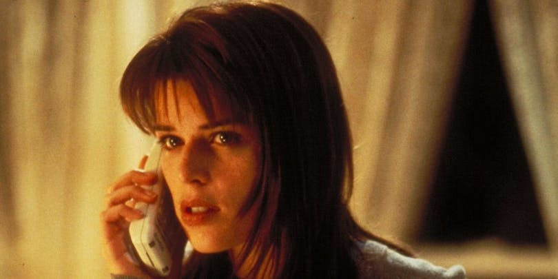 "Neve Campbell i ""Scream""."
