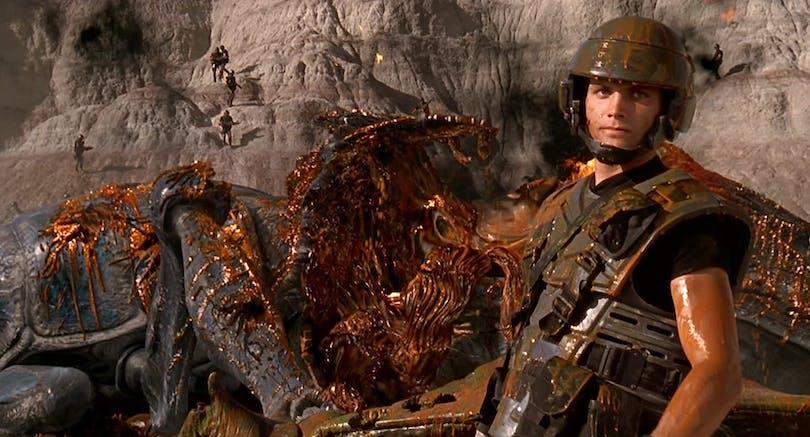 Starship Troopers sprängd insekt