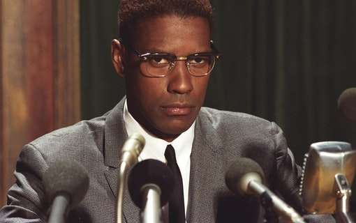 Denzel Washginton som Malcolm X.