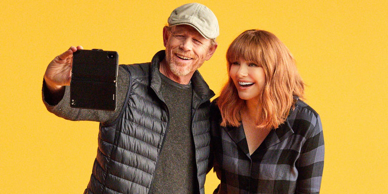 Bild från AppleTV dokumentären Dads 2 på Bryce Dallas Howard och Ron Howard.