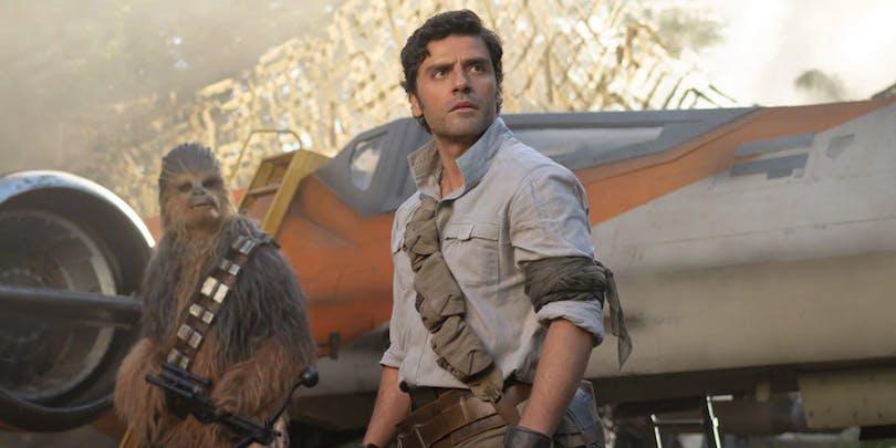 Oscar Isaac som Poe i Star Wars.