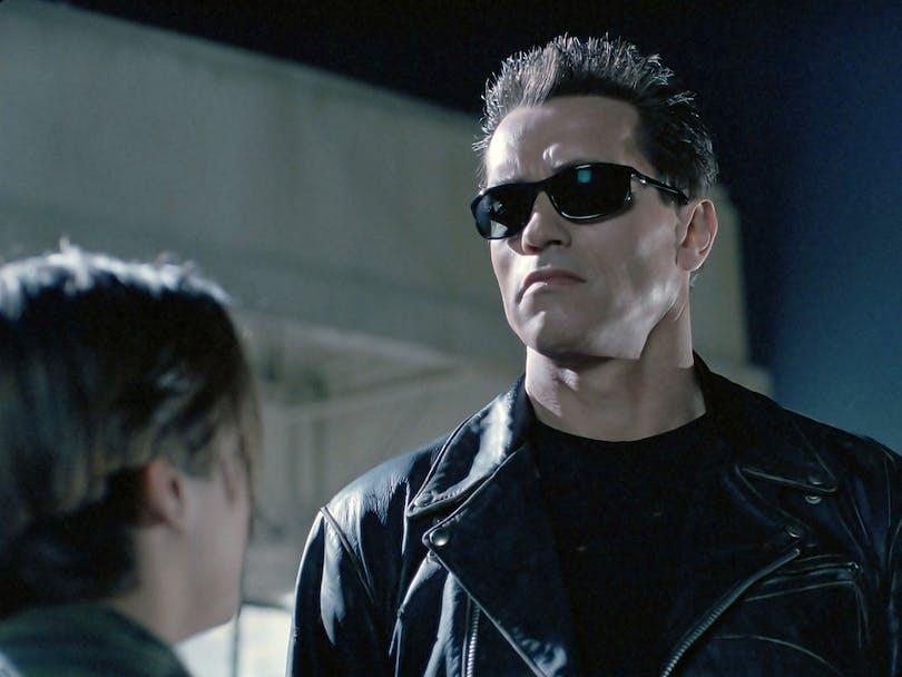 "Arnold Schwarzenegger i ""Terminator 2: Domedagen""."
