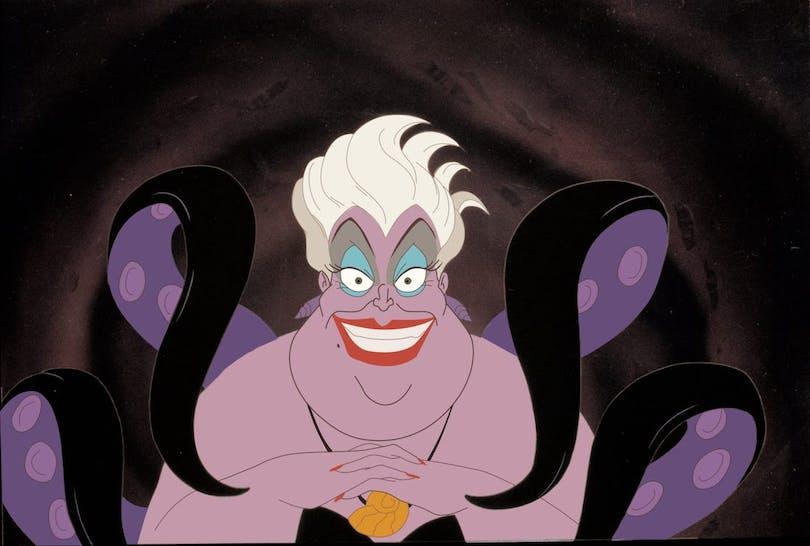 "Ursula i ""Den lilla sjöjungfrun""."