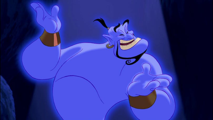 Robin Williams i Aladdin.
