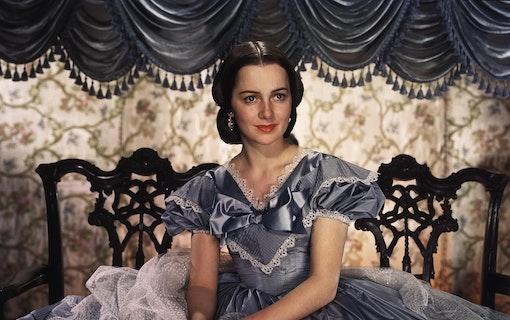 Olivia de Havilland i Borta med vinden.