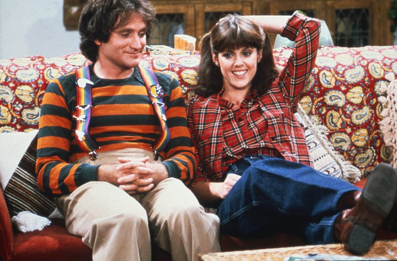 Robin Williams och Pan Dawber i Mork & Mindy.