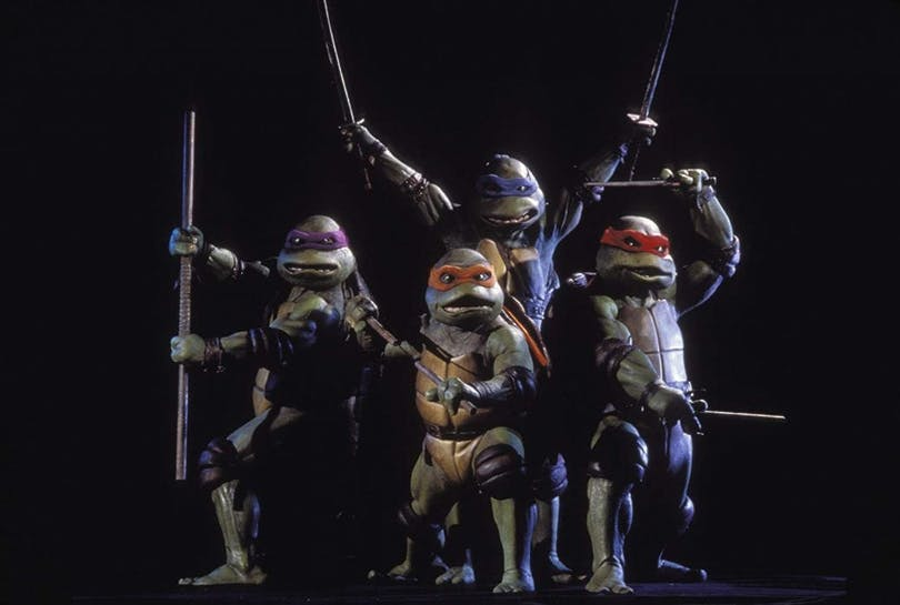 "Från ""Teenage Mutant Ninja Turtles"" (1990)."