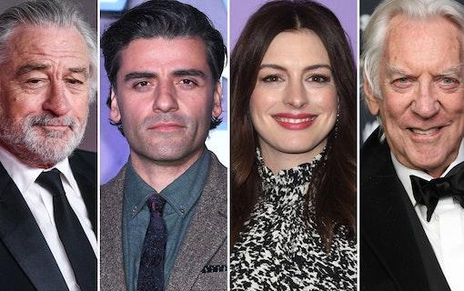 Robert De Niro, Oscar Isaac, Anne Hathaway och Donald Sutherland.