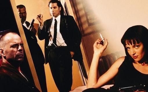 Bild på John Travolta och Samuel L. Jackson från Quention Tarantinos Pulp Fiction. Foto: Miramax