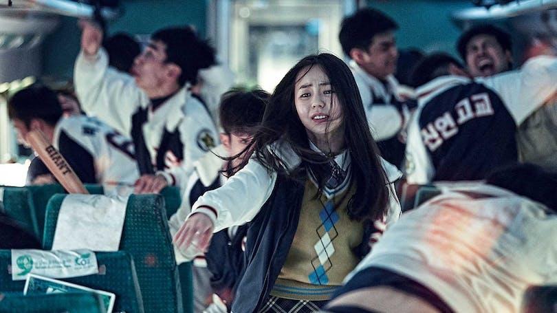 Panikslagna passagerare i filmen Train to Busan