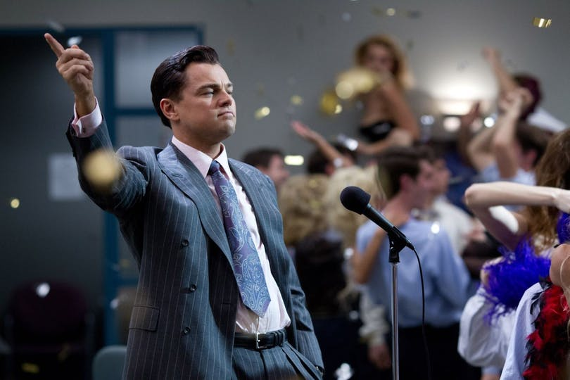 "Leonardo DiCaprio i Martin Scorseses ""The Wolf of Wall Street"""