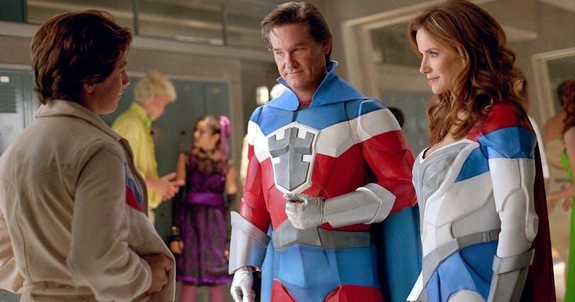 Föräldrar och superhjältar i Sky High