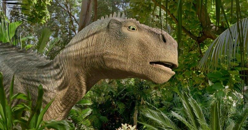 En subjektivt ful dinosaurie i Disneys film Dinosaur