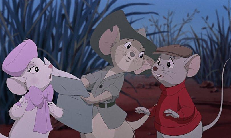 Bernard och Bianca möter en äventyrsmus i Australien