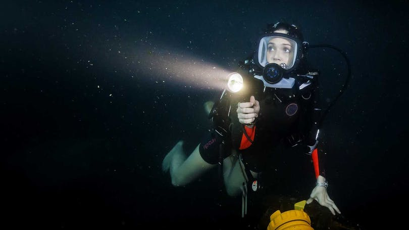 "Mandy Morre i ""47 Meters Down""."