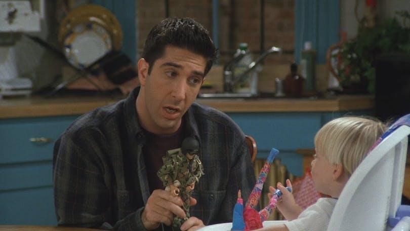Ross borde leka med Joey istället för Joe. Foto: Netflix.