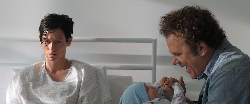 Föräldrar med nyfödd Kevin