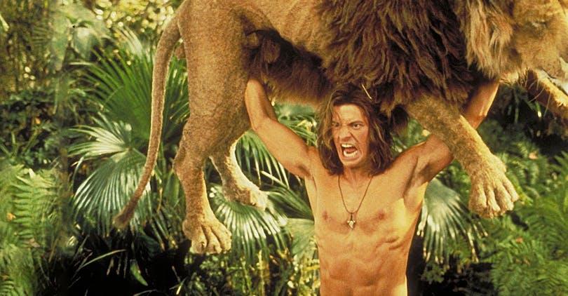 Djungel George med lejon