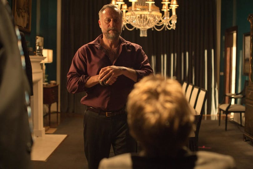 """""""Well John wasn't exactly the Boogeyman. He was the one you sent to kill the fucking Boogeyman."""" Nyqvist briljerade i den här scenen. Foto: Lionsgate."""