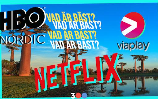 """Vilken streamingtjänst är egentligen """"bäst""""? Foto: Håll det trehundra."""