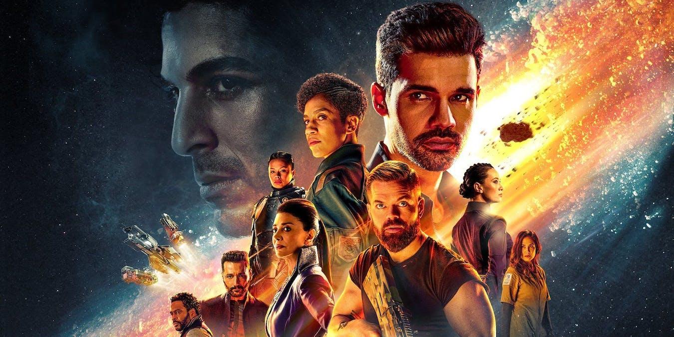 Affisch med karaktärerna i The Expanse. Foto: Amazon Prime