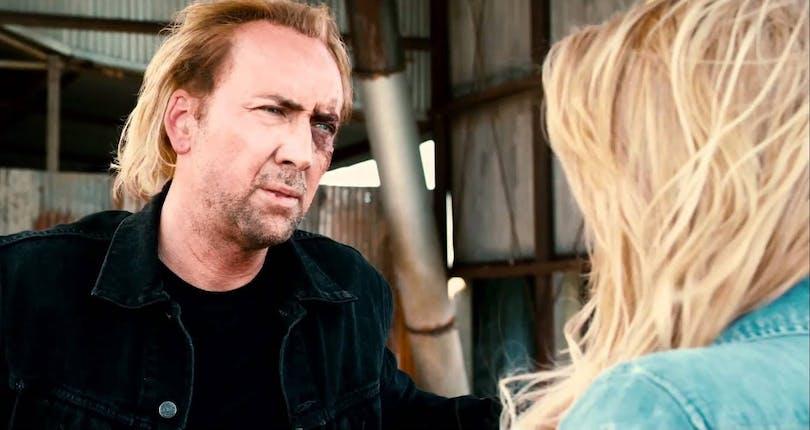 Det verkar finns en korrelation mellan hur dålig filmen är och hur fånig peruken är när det kommer till filmer med Nicolas Cage. I Drive Angry är den exempelvis utomordentligt ful och fånig. Foto: Summit Entertainment.