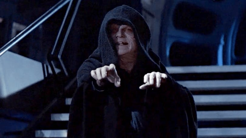 Vissa internet-troll känns lika elaka som Palpatine i Star Wars. Foto: Walt Disney Studios Motion Pictures.