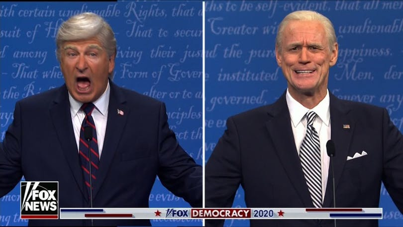 Alec Baldwin som Donald Trump och Jim Carrey som Joe Biden