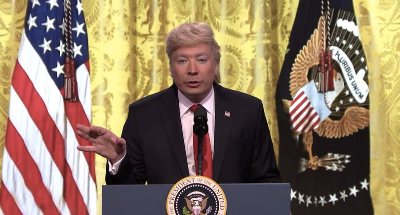 Jimmy Fallon som Donald Trump