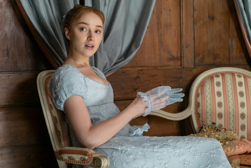 Phoebe Dynevor som Daphne Bridgerton. Foto: Netflix.