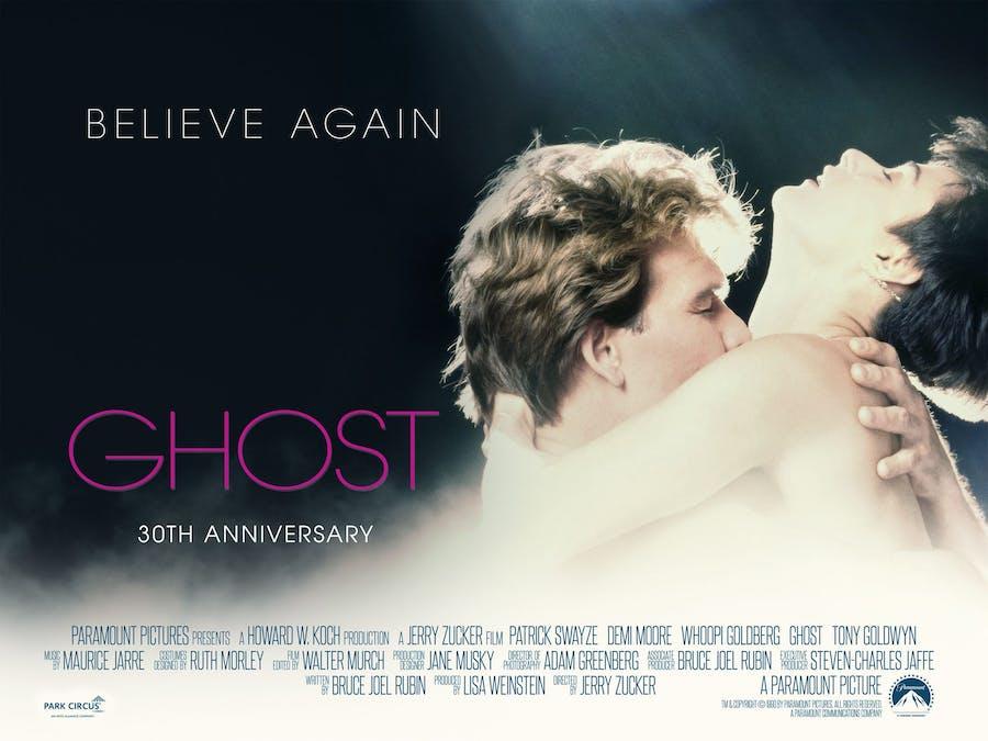Patrick Swayse och Demi Moore i Ghost från 1990. Foto: Paramount Pictures.