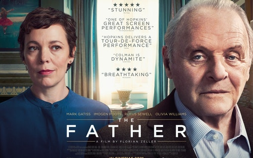 Postern till filmen The Father. Postern frontas av Olivia Coleman och Anthony Hopkins sida vid sida. Foto: Trademark Films