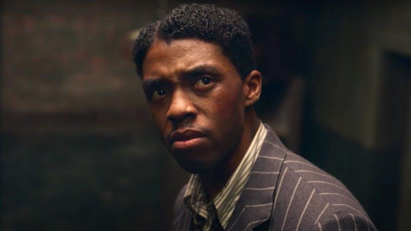 "Bortgångne Chadwick Boseman i ""Ma Rainey's Black Bottom""."