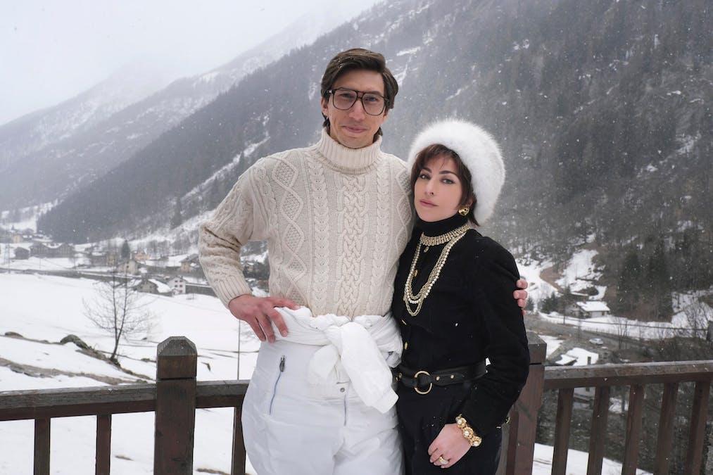 Se första bilden på Lady Gaga och Adam Driver i House of Gucci