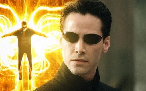 Keanu Reeves som frälsargestalten Neo i The Matrix. Foto: Warner Bros. Pictures.