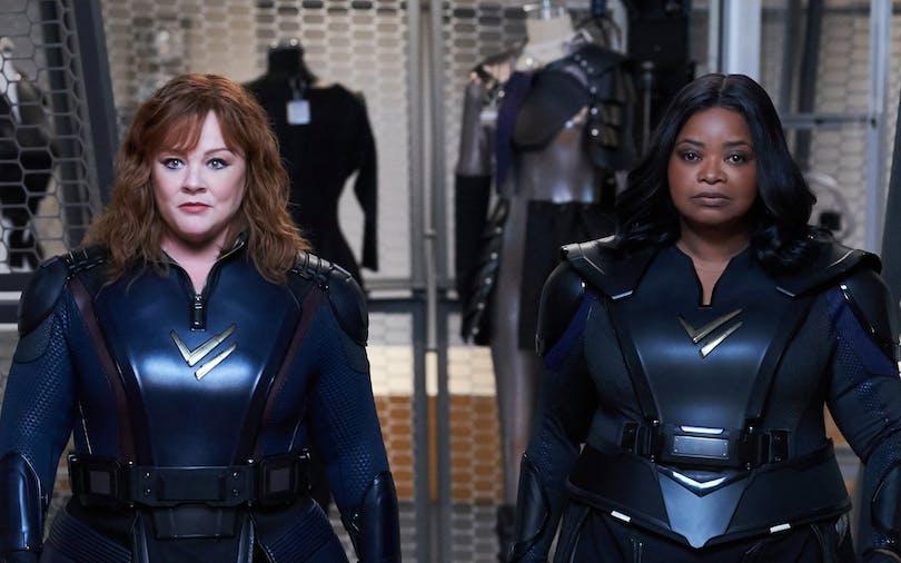 """""""Thunder Force"""" med Melissa McCarthy och Octavia Spencer. Foto: Netflix."""