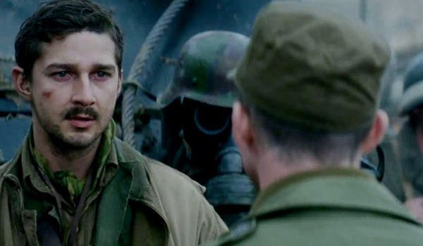 Shia LaBeouf i Fury. Foto: Dony Pictures Releasing.