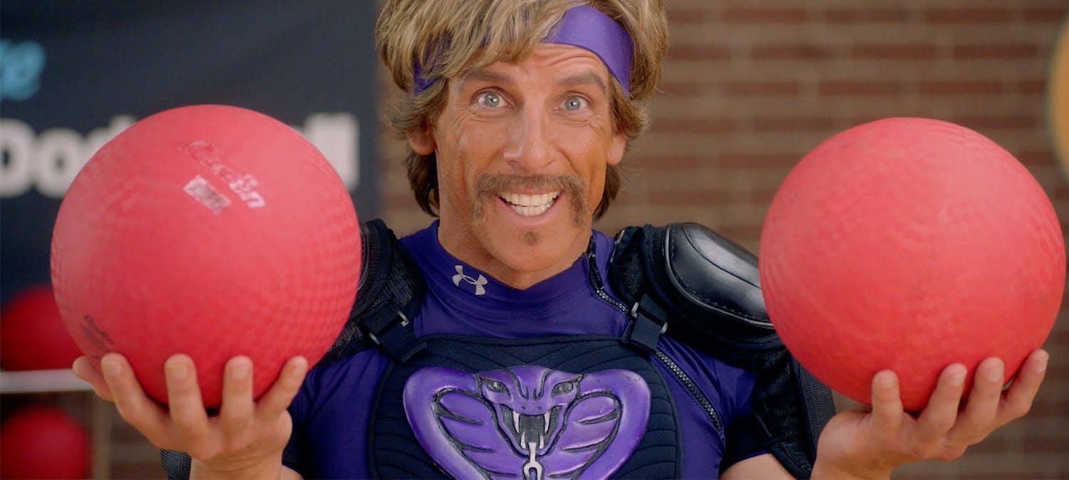 Ben Stiller i Dodgeball – en av alla filmer om konstiga sporter