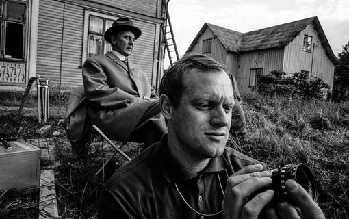 Gunnar Björnstrand och Jan Troell. Foto: Bertil S:son Åberg/SVT.