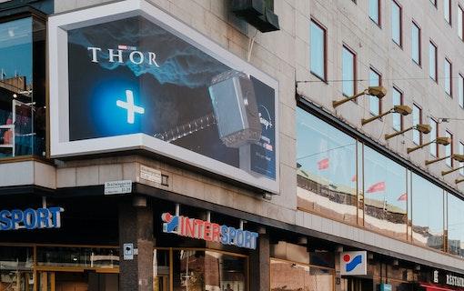3D-annonsering på Sergels torg